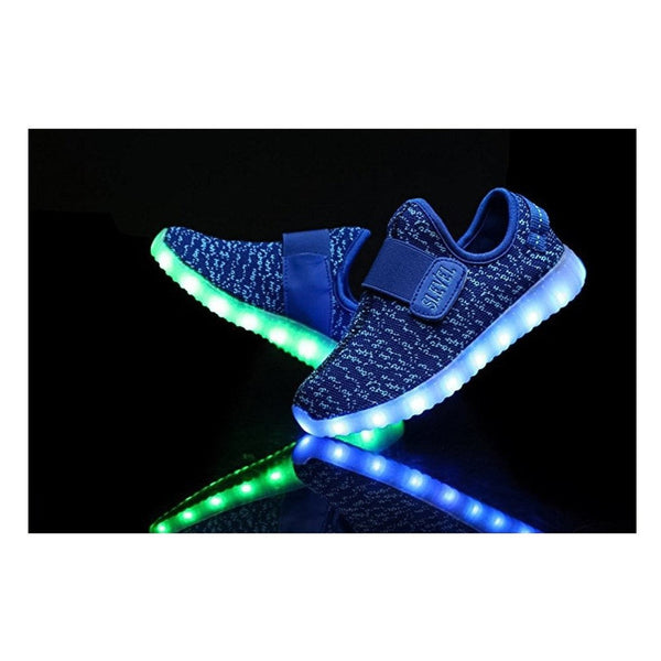 SLEVEL Breathable LED Light Up Shoes USB Sneakers for Kids Boys Girls
