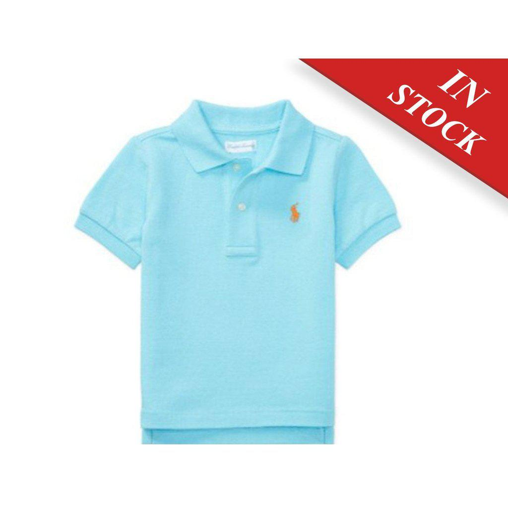 Cotton Interlock Polo Shirt - Tropic Turquoise