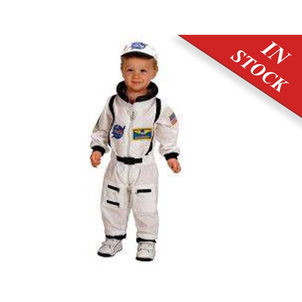 Aeromax Jr. Astronaut Suit with Embroidered Cap and NASA patches, WHITE Costume - BABYJOX