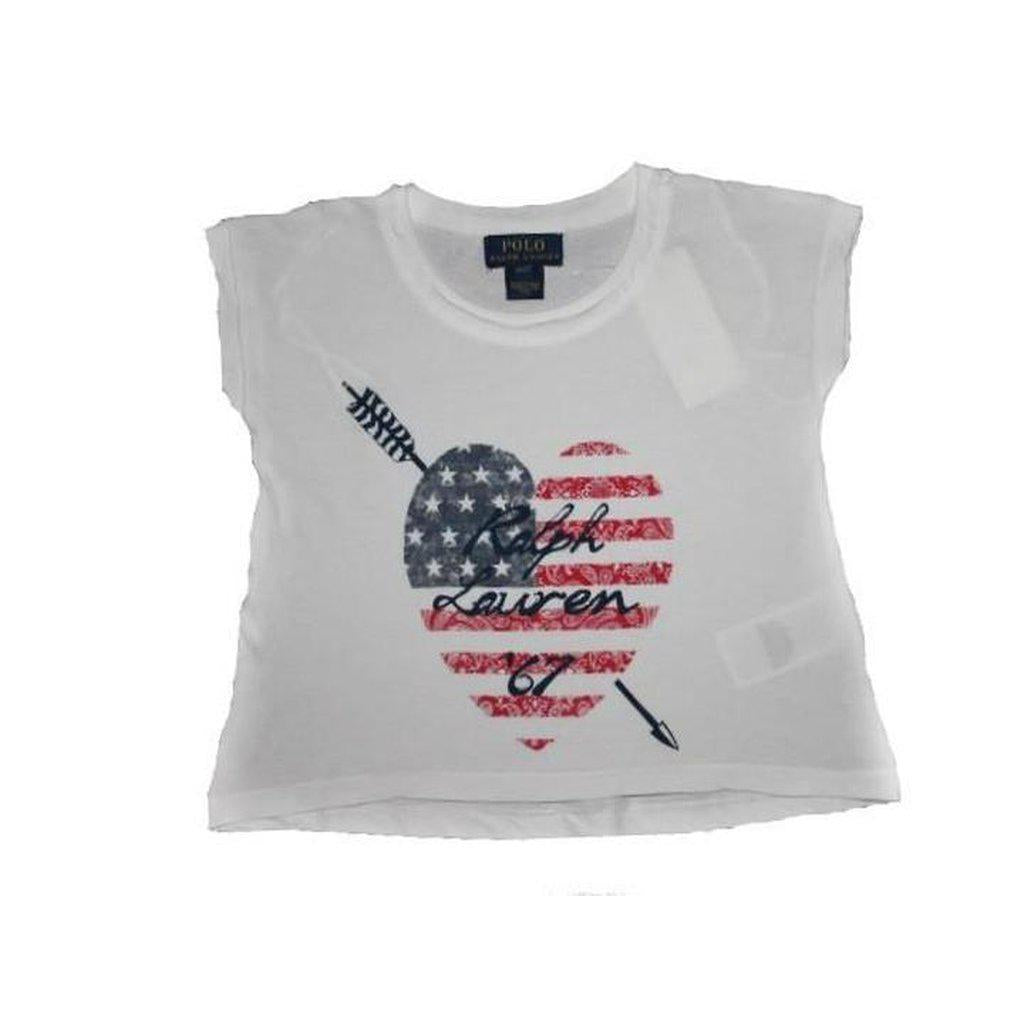 Ralph Lauren Little Girls' Flag-Graphic T-shirt - BABYJOX