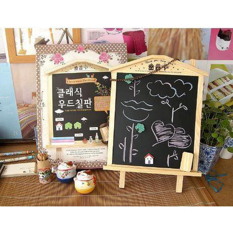 Montessori Kids Toy Baby Wooden House Magnetic Hang Blackboard Learning Educational Preschool Training Brinquedos Juguets - BABYJOX