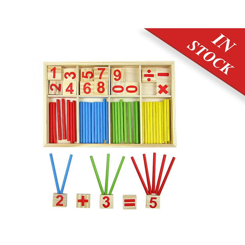 Baby Toy Wooden Blocks Montessori Educational Toys Mathematical Intelligence Stick Building Blocks gift - BABYJOX