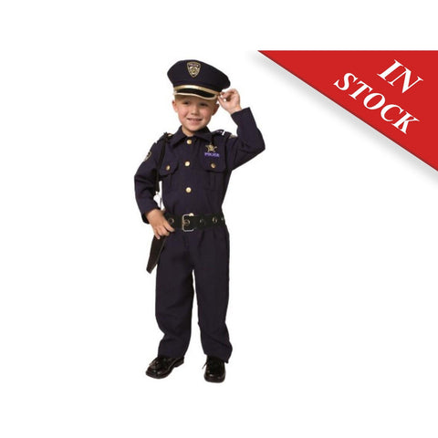 Little Boys' Deluxe Police Officer Costume