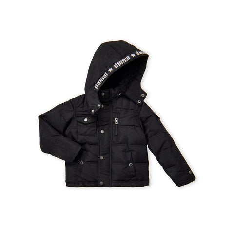 (Boys) Sherpa Hood Bubble Jacket