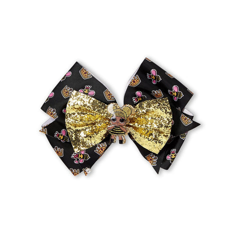 Gold & Black Bee Bow