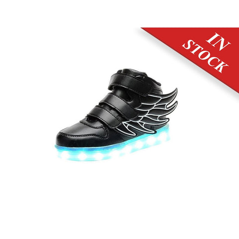Luckfugui Toddler Little Kid Boy Girl USB Flashing LED Light Shoes Sneaker