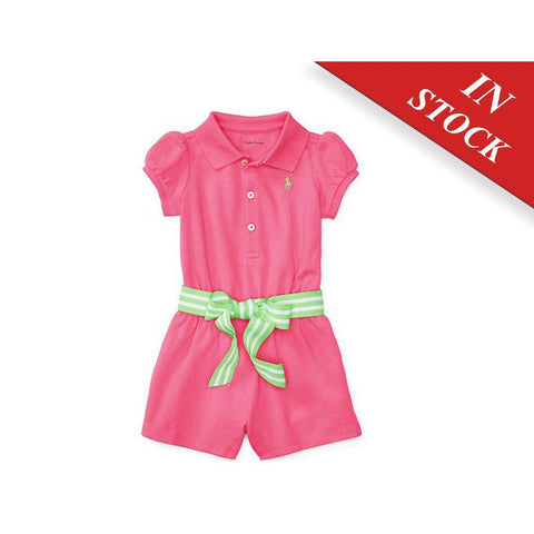 Cotton Polo Romper