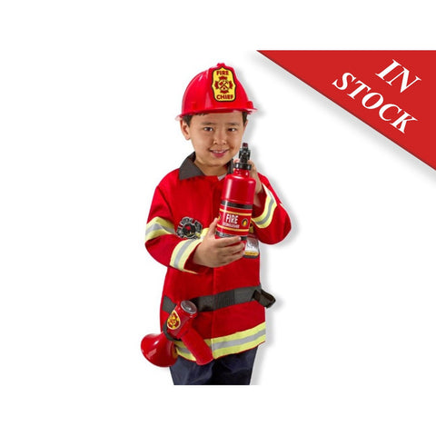 Melissa & Doug Fire Chief Role Play Costume Dress-Up Set