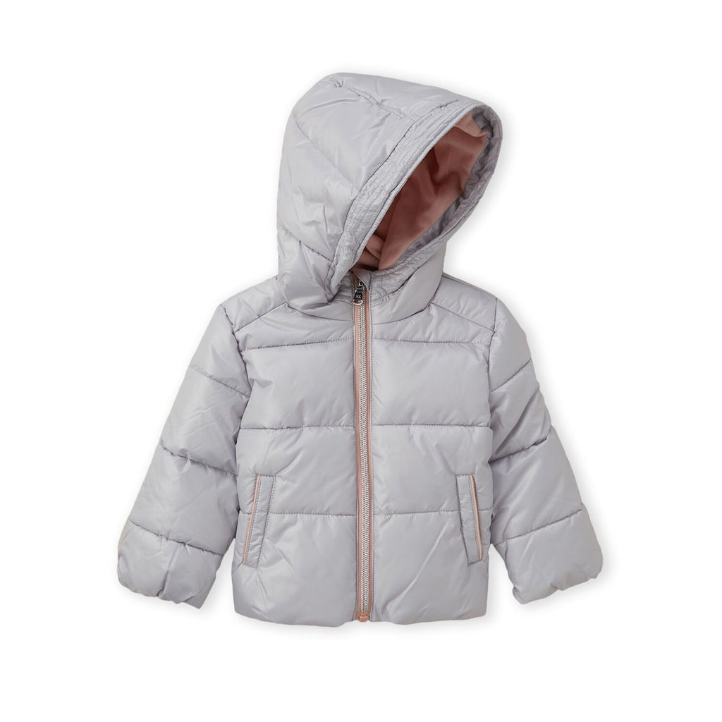 Pearl Hooded Basic Puffer Jacket