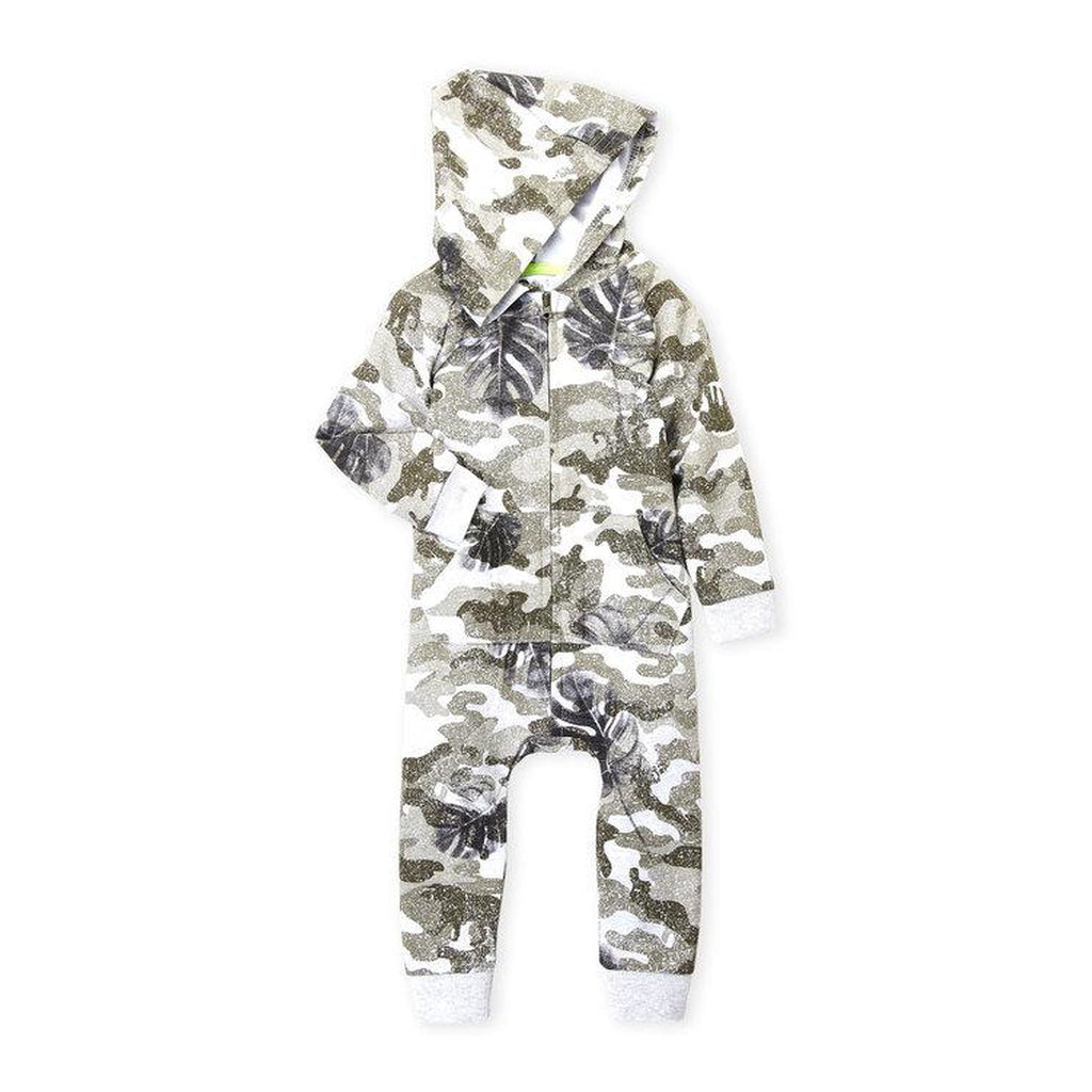 Camouflage Hooded Romper