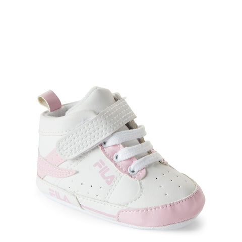 Pink & White High-Top Sneakers