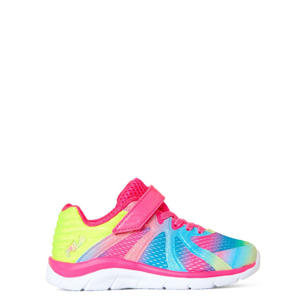 Pink & Multicolor Fraction 3 Running Sneakers