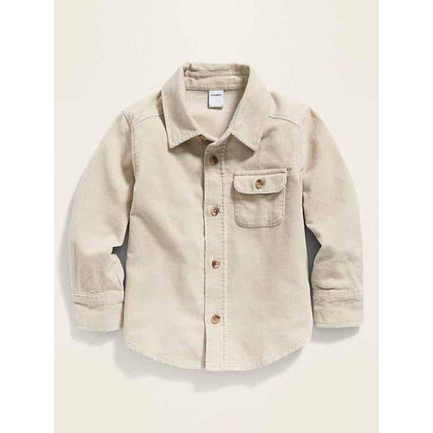 Corduroy Long-Sleeve Shirt for Toddler Boys