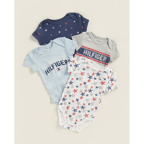 4-Pack Star Bodysuits