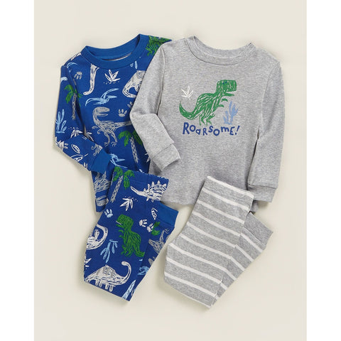 4-Piece Dino Pajama Set