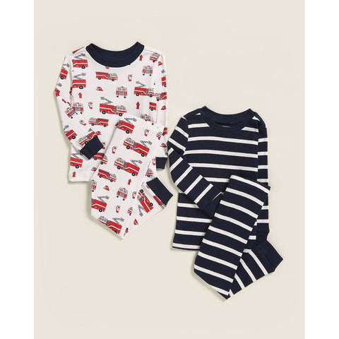 4-Piece Fire Truck Pajama Set