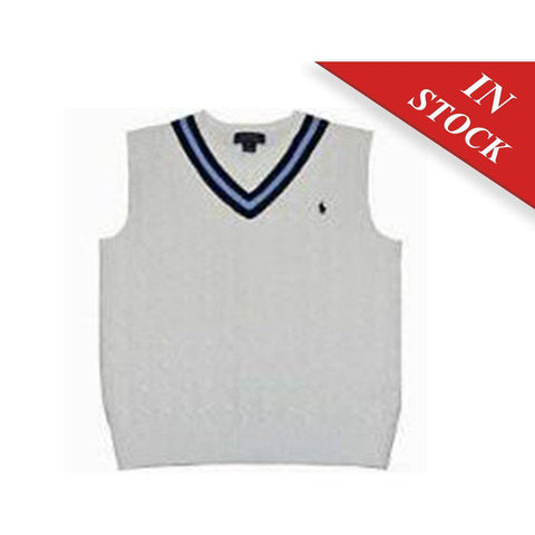 Polo Ralph Lauren Baby Boys' Cricket V-Neck Pony Vest-Andover Cream