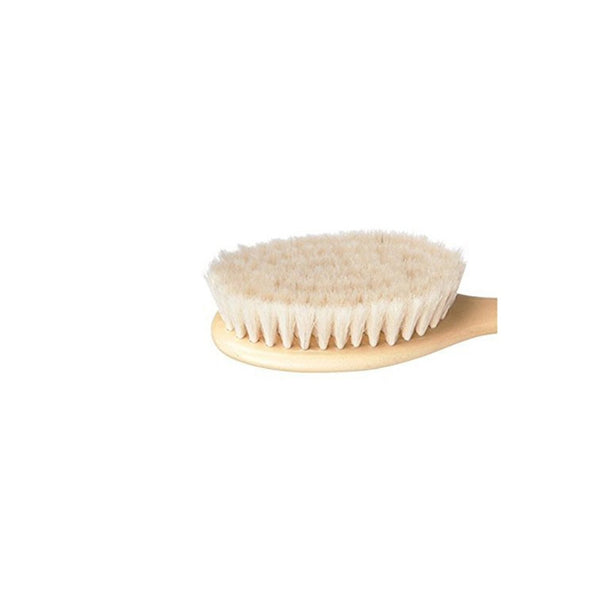 Wooden Baby Hair Brush Set with Natural Goat Hair Bristles