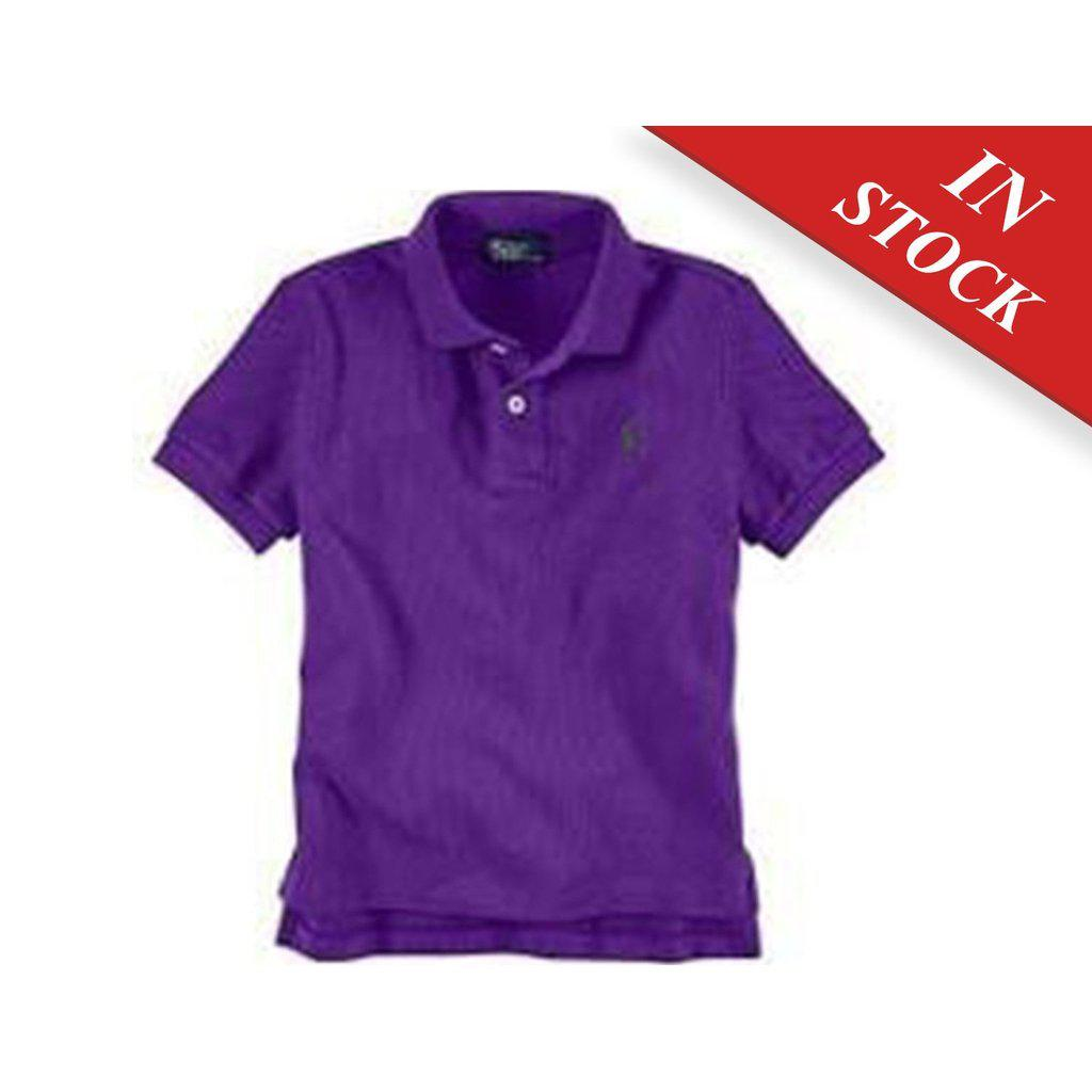 Polo Ralph Lauren Baby' Mesh Polo Shirt, Purple