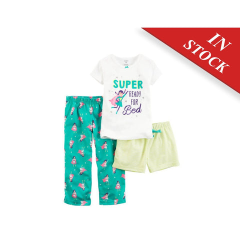 3-Piece Cotton & Jersey Pjs - BABYJOX