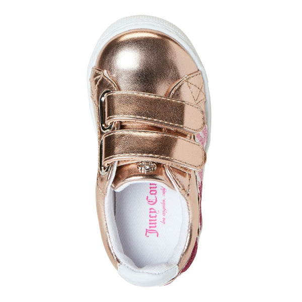 Rose Gold Lil Livermore Metallic Sneakers