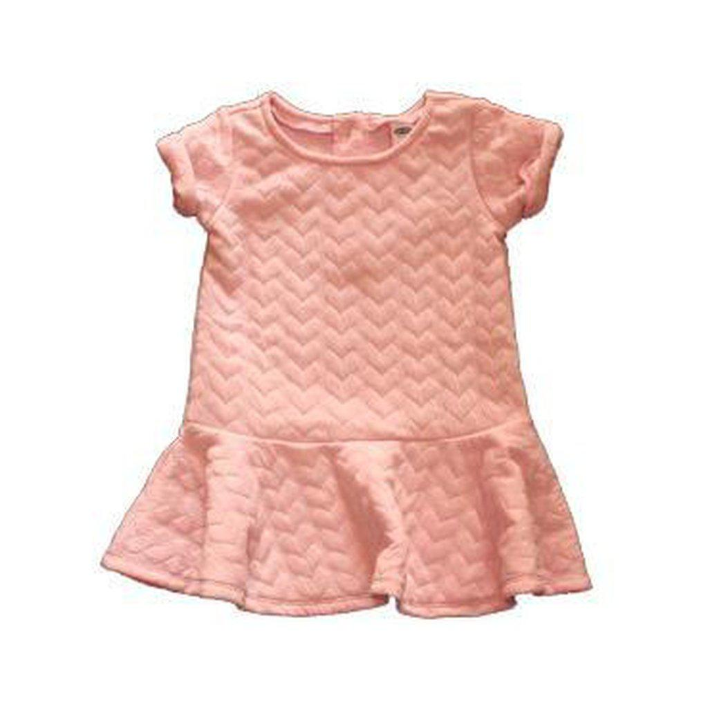 Quilted-Hearts Pleated Dress for Baby