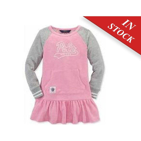 Polo Ralph Lauren Girl'S Dress, Pink/Grey