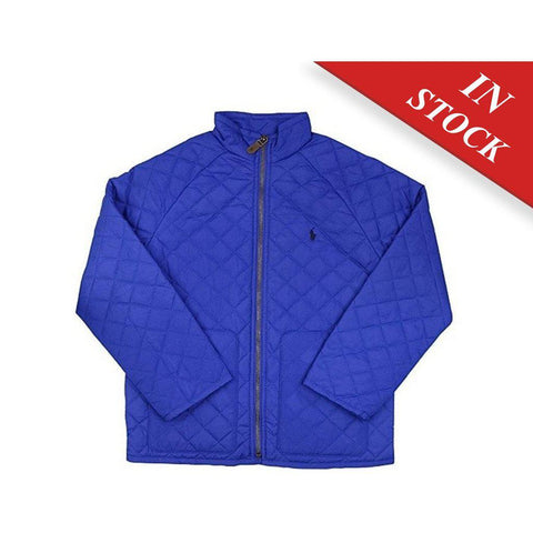 Polo Ralph Lauren Girls Quilted Jacket-Pac Royal