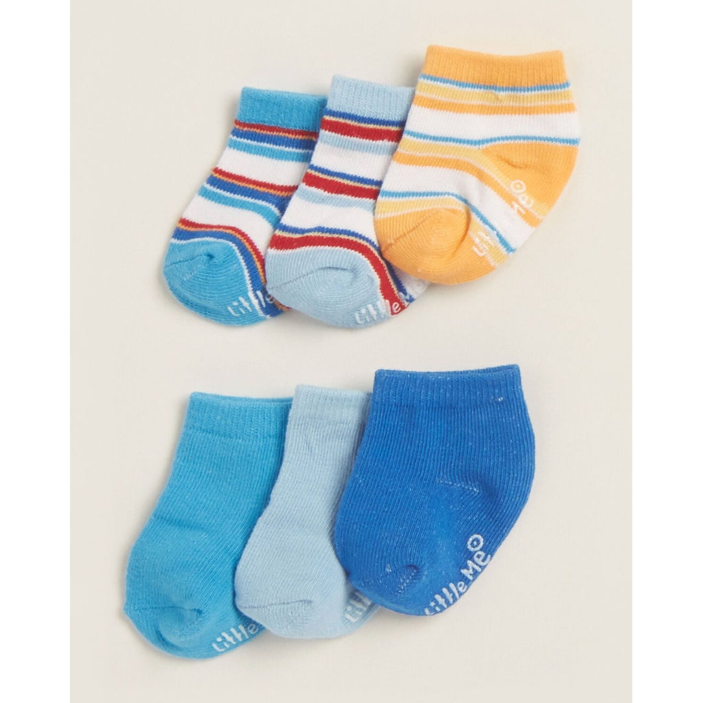 6-Pack Solid & Striped Socks