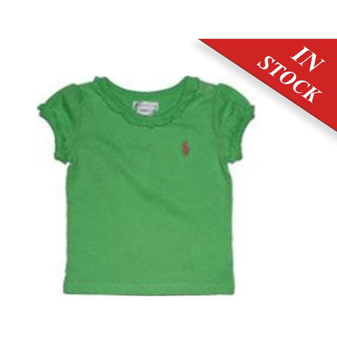 Polo Ralph Lauren Little Girls Crewneck T-Shirt, Alfalfa
