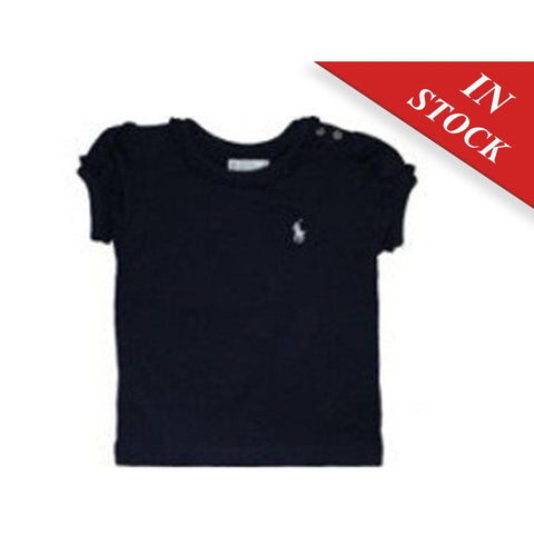 Polo Ralph Lauren Little Girls Crewneck T-Shirt, Navy Blu