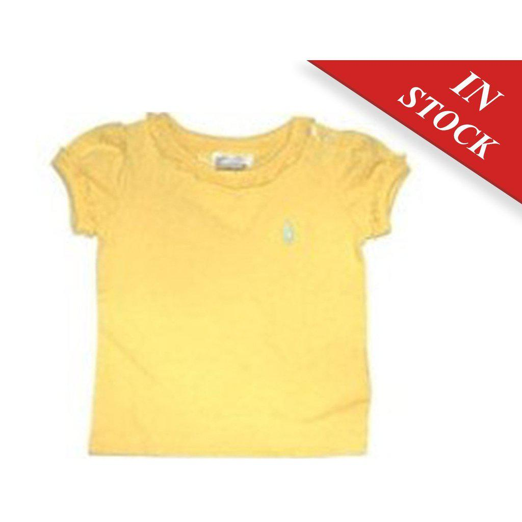 Polo Ralph Lauren Little Girls Crewneck T-Shirt, Sunfish Yellow