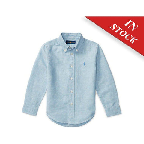 Linen-Cotton Chambray Shirt