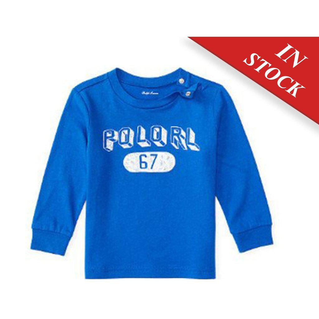 6aa4b4bd0 Ralph Lauren Baby Boys Cotton Long Sleeve Graphic Tee - Cruise Royale –  BABYJOX