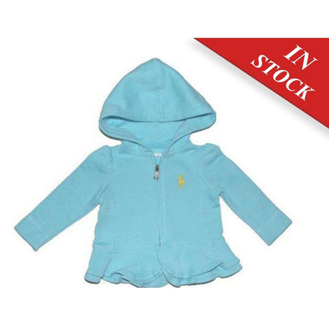 Ralph Lauren Baby Girl Cotton Hoodie Long Sleeve