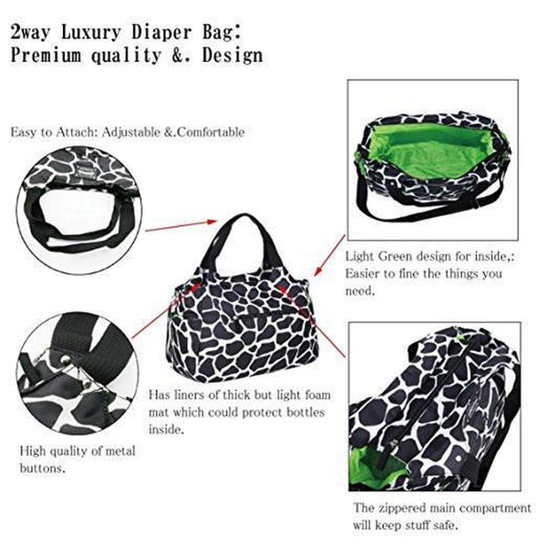 F's MAUMU Stylish Designer Baby Water-Proof Messenger Bag Diaper Bags