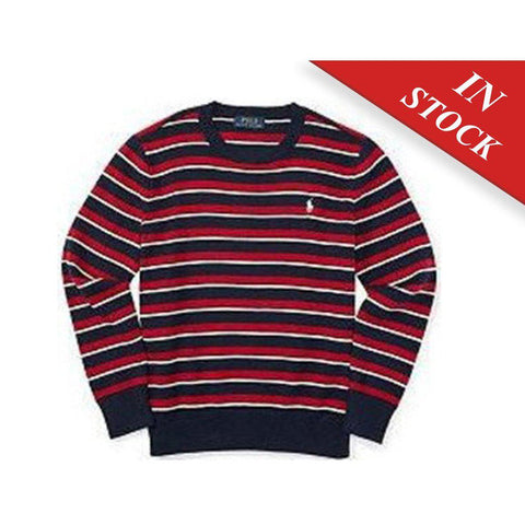 Ralph Lauren Boys Striped Cotton Crewneck Sweater