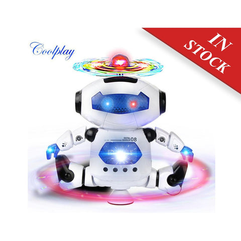 Cooplay CP99444-2 Smart Space Dance Robot Electronic Walking Toys With Music Light Gift For Kids Astronaut Toy to Child
