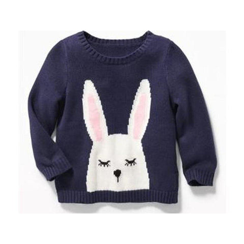 Critter Graphic Sweater For Baby Girls