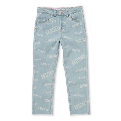 Birdie High-Rise Ankle Straight Logo Jeans