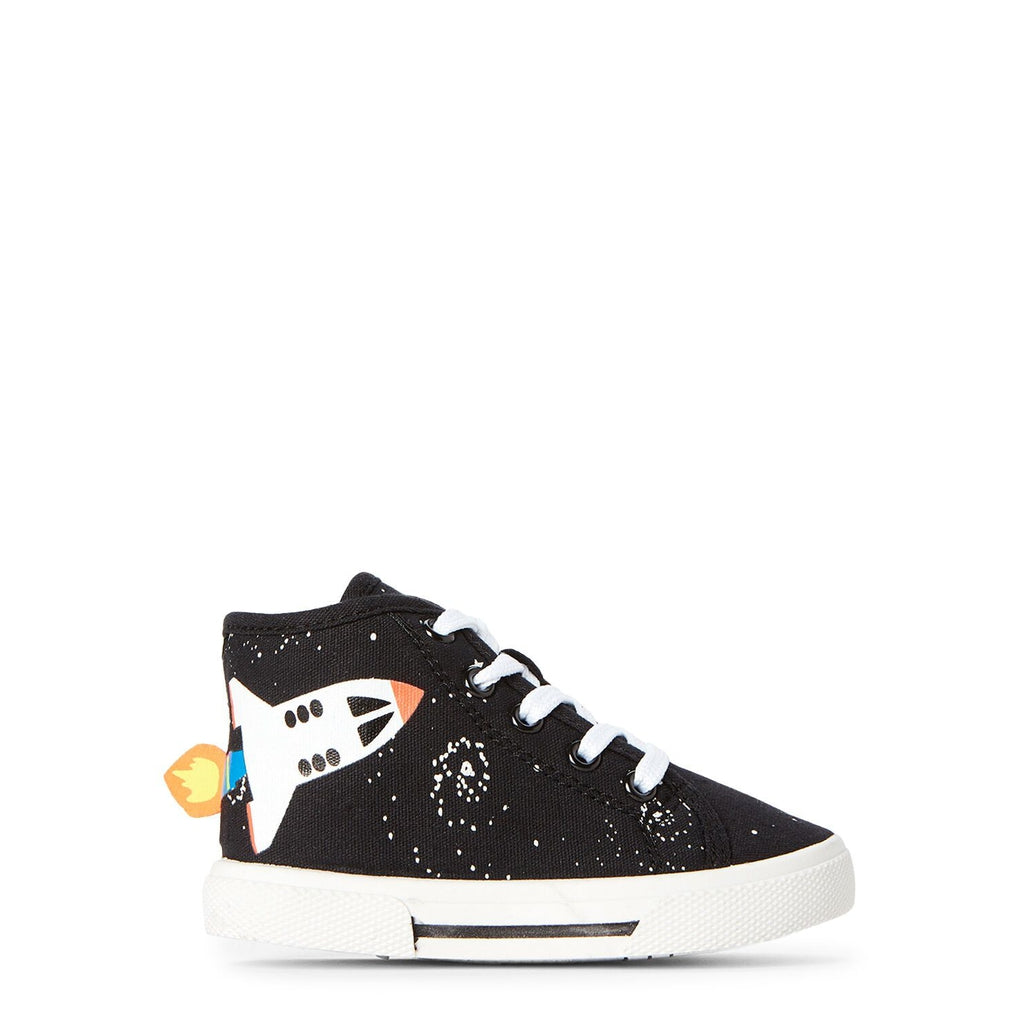 Black Nash Spaceship High-Top Sneakers