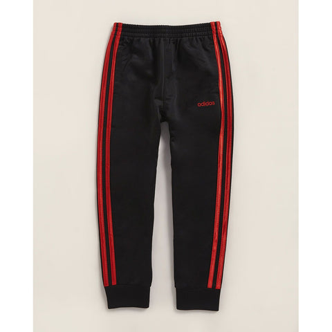 Black & Scarlet Tricot Joggers