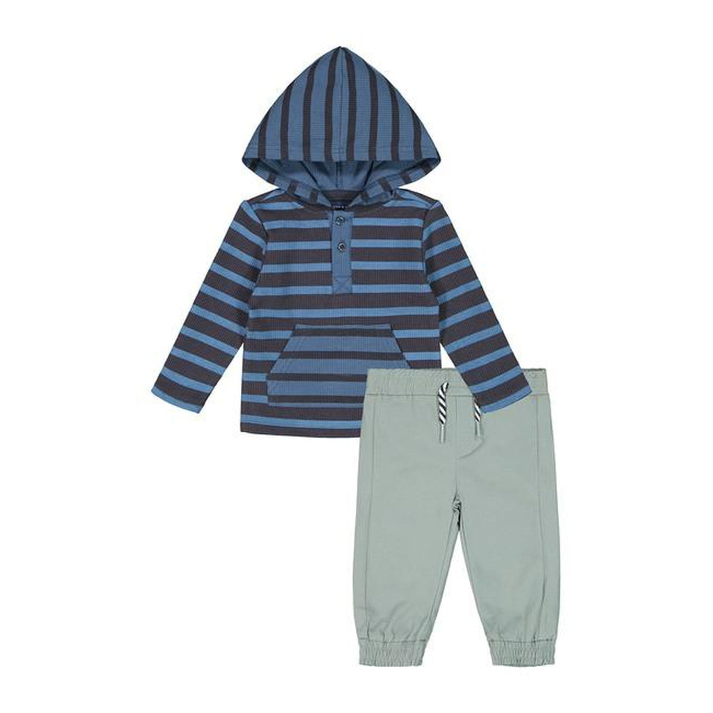 Blue Striped Hoodie & Jogger Set