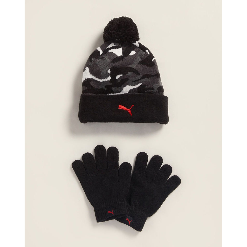 Camo Beanie & Gloves Set