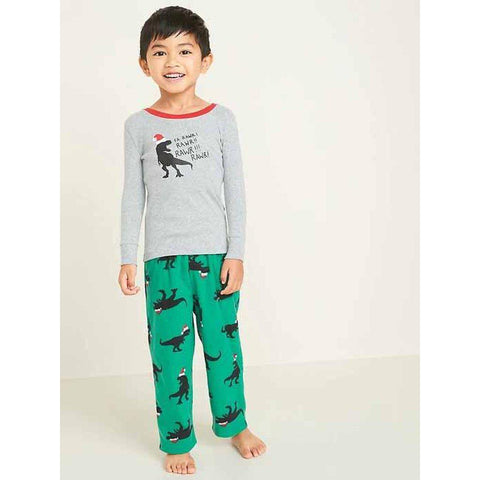 Christmas T-Rex Pajama Set for Toddler Boys & Baby