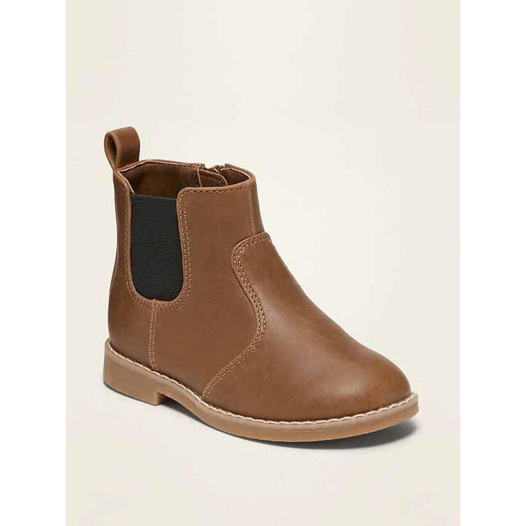 Faux-Leather Chelsea Boots for Toddler Boys