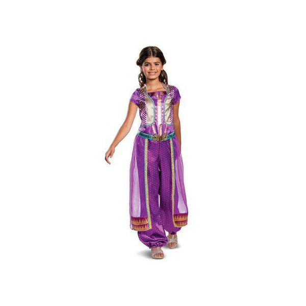 Girls' Disney Jasmine Purple Classic Halloween Costume