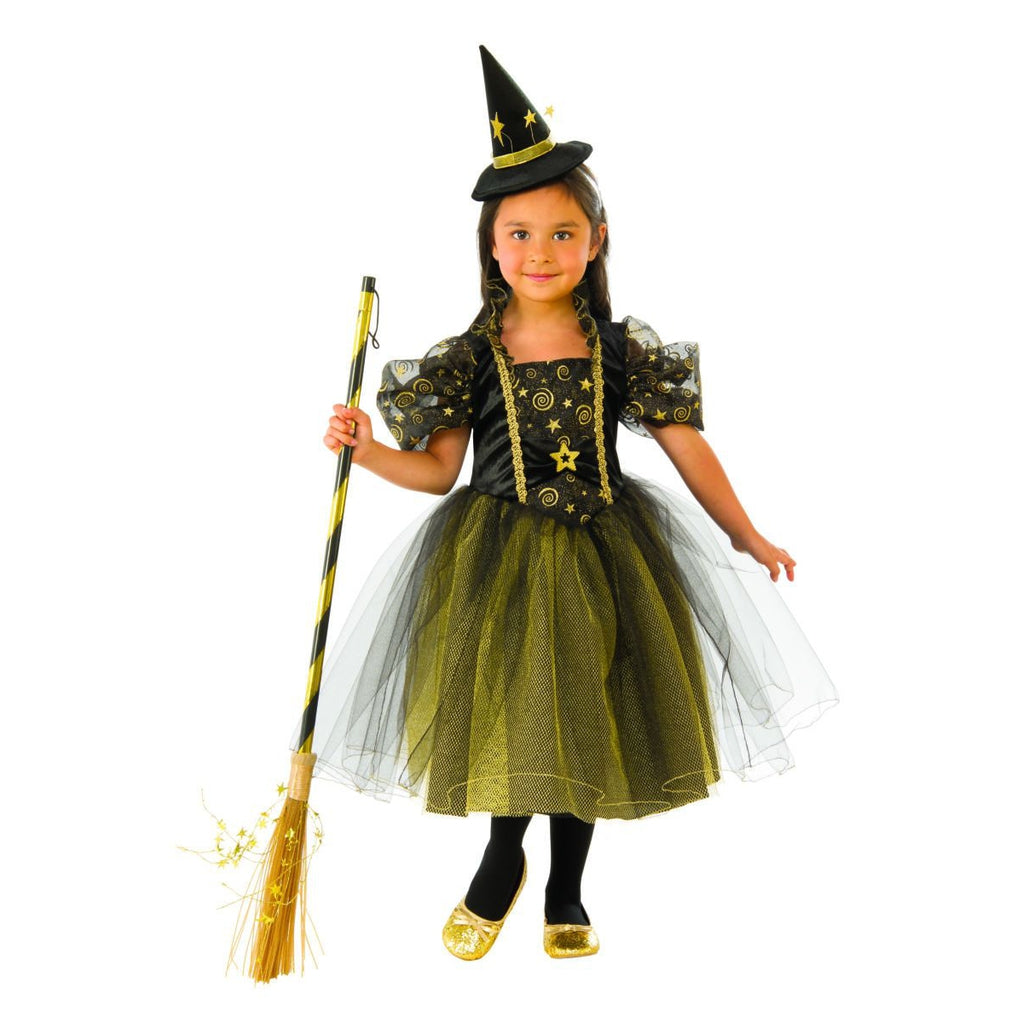 Girls' Golden Star Witch Halloween Costume - Rubie's