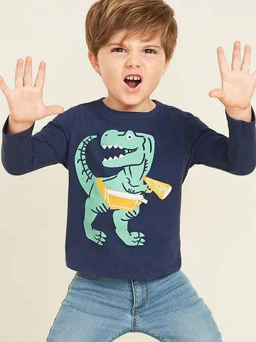 Graphic Critter Tee for Toddler Boys