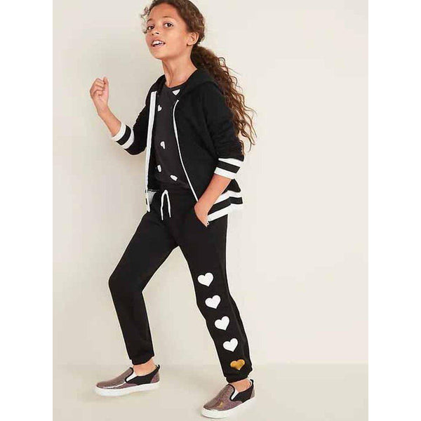 Graphic Drawstring-Waist Joggers for Girls